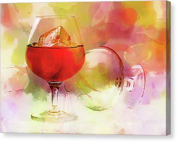 Brandy On A Whimsy Canvas Print by Georgiana Romanovna