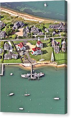 Brant Point Coast Guard Station Nantucket Harbor 2 Canvas Print