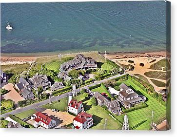 Brant Point House Nantucket Island Canvas Print