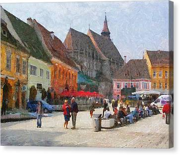 Brasov Council Square Canvas Print by Jeff Kolker