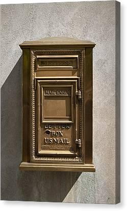 Brass Mail Box Nyc Canvas Print by Robert Ullmann