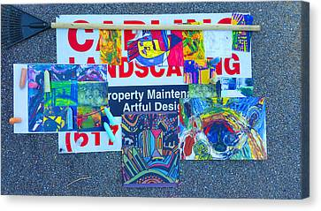 Manic-deppression Class A Canvas Print by Ronald Carlino Jr