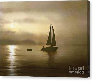 Brass Sail Canvas Print by Robert Foster
