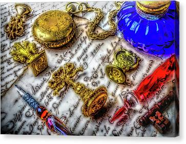 Brass Wax Seals Canvas Print