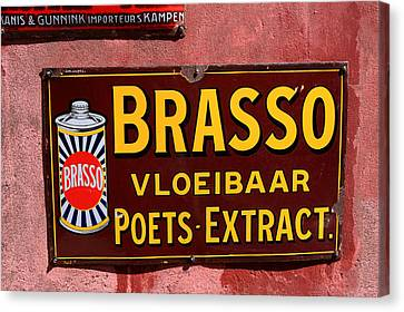 Brasso Advertising Sign Canvas Print by Aidan Moran