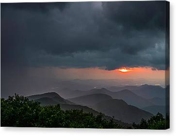 Canvas Print featuring the photograph Brasstown Bald Sunset by Michael Sussman