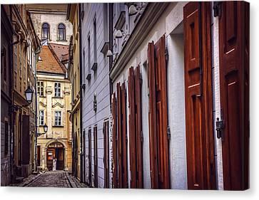 Bratislava's Medieval Old Town Canvas Print by Carol Japp