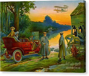 Brave New World 1910 Canvas Print
