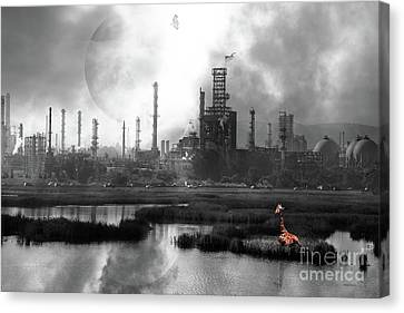 Brave New World 7d10358 V3 Bw Canvas Print