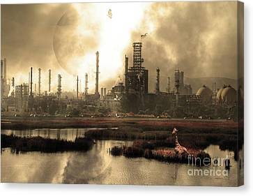 Brave New World 7d10358 V3 Sepia Canvas Print by Wingsdomain Art and Photography