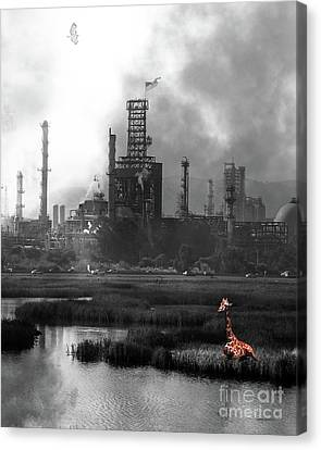 Brave New World 7d10358 V3 Vertical Bw Canvas Print