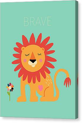 Brave Canvas Print by Nicole Wilson