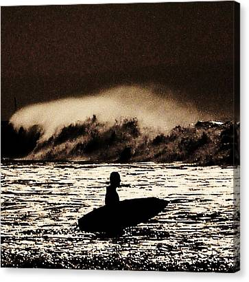 Braving A Storm Canvas Print