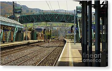 Bray Dart Station Panoramic Canvas Print by Poet's Eye