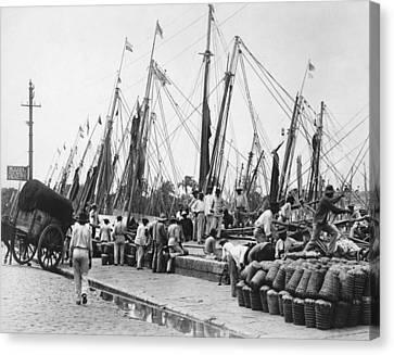 Brazilian Dock Scene Canvas Print by Underwood Archives