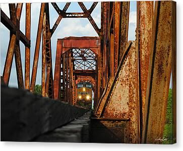Brazos River Railroad Bridge Canvas Print