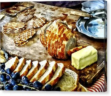 Bread And Butter Canvas Print by Susan Savad