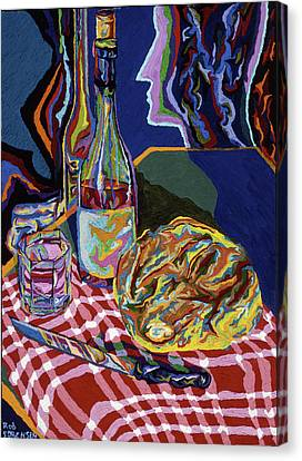 Bread And Wine Of Life Canvas Print by Robert SORENSEN