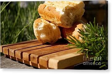 Canvas Print featuring the photograph Bread I by Louise Fahy