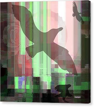 Canvas Print featuring the mixed media Break Free by Fania Simon