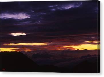 Break Of Dawn From Haleakala Maui Canvas Print by Harvie Brown