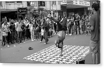 Breakdance At Bogota Colombia Canvas Print