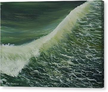 Canvas Print featuring the painting Breaker by Ken Ahlering