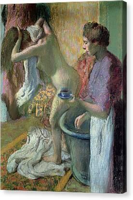 Breakfast After A Bath Canvas Print by Edgar Degas