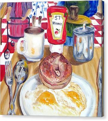Breakfast At The Deli Canvas Print