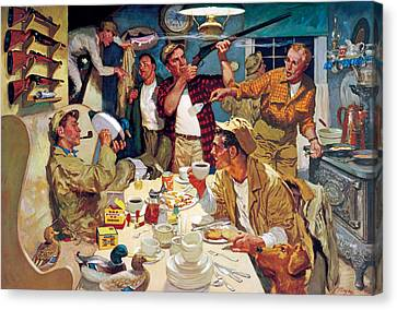 Breakfast At The Hunting Cabin Canvas Print by Dwyer