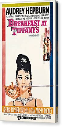 Breakfast At Tiffany's 2 Vintage Lobby Poster  1961 Canvas Print by Daniel Hagerman