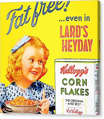 Breakfast Cereal Kelloggs Corn Flakes 20160219 Square Canvas Print by Wingsdomain Art and Photography