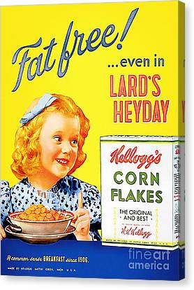 Breakfast Cereal Kelloggs Corn Flakes 20160219 Canvas Print by Wingsdomain Art and Photography