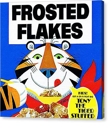 Breakfast Cereal Tony The Tiger 20160215 Square Canvas Print by Wingsdomain Art and Photography
