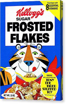 Breakfast Cereal Tony The Tiger Pop Art Nostalgia 20160215 Canvas Print by Wingsdomain Art and Photography