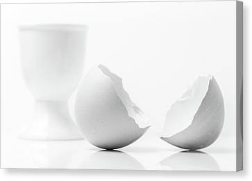 Egg-cup Canvas Print - Breakfast Egg. by Gary Gillette