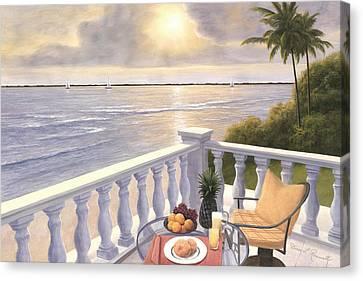 Breakfast On The Veranda Canvas Print