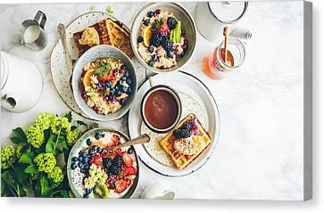 Porridge Canvas Print - Breakfast Porridge Waffles Fruit 115145 1920x1080 by Anne Pool