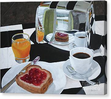 Breakfast Reflections Canvas Print