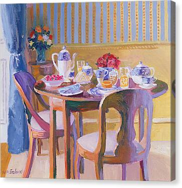 Breakfast Table Canvas Print by William Ireland
