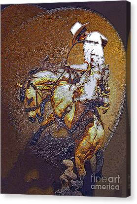 Breakin A Bronc Canvas Print by Al Bourassa