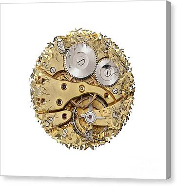 Breaking Apart Clockwork Mechanism Canvas Print