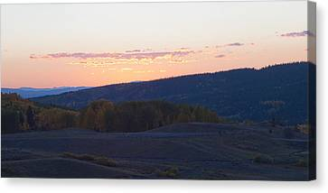 Canvas Print featuring the photograph Breaking Morn Over Gore Range by Daniel Hebard
