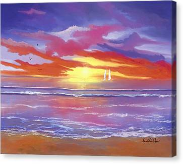 Canvas Print featuring the painting Breaking Sun by Sena Wilson