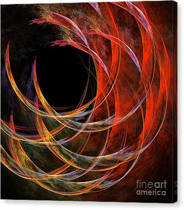 Modern Digital Art Canvas Print - Breaking The Circle by Oni H