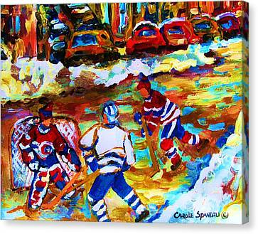 Breaking  The Ice Canvas Print by Carole Spandau