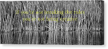 Breaking Rules Canvas Print - Breaking The Rules by Britt Runyon