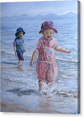 Breaking The Waves Canvas Print by Victoria Heryet