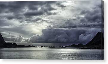 Breaking Through The Clouds Canvas Print by Tor-Ivar Naess
