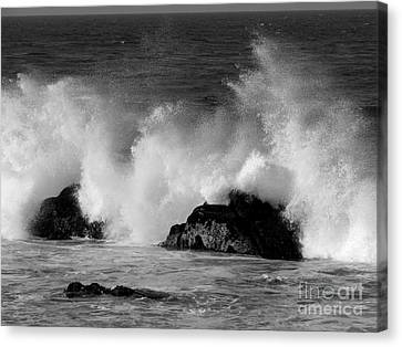 Breaking Wave At Pacific Grove Canvas Print by James B Toy